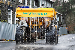 © Licensed to London News Pictures. 27/01/2016. Glenridding UK. Another clean up operation is under way in Glenridding today after the village flooded for a fourth time last night as Storm Jonas continues to batter the county. Photo credit: Andrew McCaren/LNP