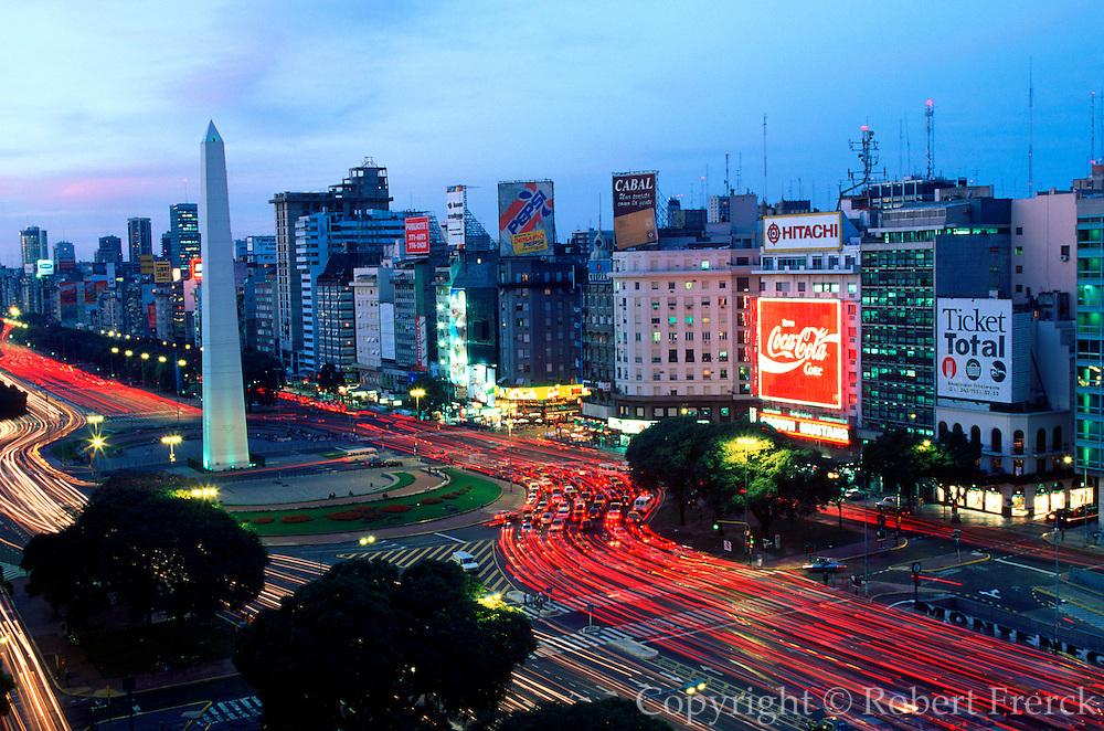 ARGENTINA, BUENOS AIRES the Obelisk in Plaza de la Republica