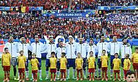 Formazione Italia durante l'inno Team Italy during the national anthem <br /> Lyon 13-06-2016 Stade de Lyon Footballl Euro2016 Belgium - Italy / Belgio - Italia Group Stage Group D. Foto Massimo Insabato  / Insidefoto