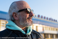 French custom builder Bertrand Dubet arriving in Ulan-Ude to race in the Baikal Mile in Siberia, Russia. Monday, February 24, 2020. Photography ©2020 Michael Lichter.