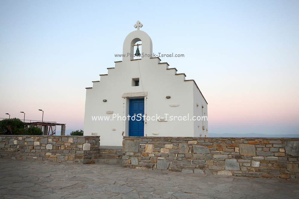 White Church Paros, a Greek island in the central Aegean Sea. One of the Cyclades island group, Greece