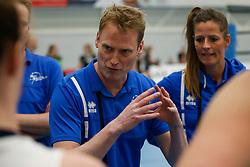 20180425 NED: Eredivisie Sliedrecht Sport - Coolen Alterno, Sliedrecht <br />(L-R) Matt van Wezel, headcoach of Sliedrecht Sport <br />©2018-FotoHoogendoorn.nl / Pim Waslander