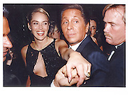 Sharon Stone and Valentino. Vanity Fair party. Le Colonial. New York. 9 September 1996. © Copyright Photograph by Dafydd Jones 66 Stockwell Park Rd. London SW9 0DA Tel 020 7733 0108 www.dafjones.com