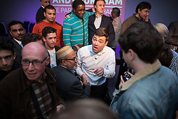 © Licensed to London News Pictures  . 05/09/2015 . Manchester , UK . ANDY BURNHAM meets supporters after a rally for his campaign to be the next leader of the Labour Party , at Kings House Conference Centre in Manchester . Photo credit: Joel Goodman/LNP