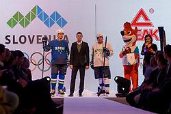 Tomaz Razingar, Taiji Tokuhisa  and Benjamin Savsek at Official presentation of the Designer wear for Slovenian Athletes at PyeongChang Winter Olympic Games 2018, on December 19, 2017 in Grand Hotel Union, Ljubljana, Slovenia. Photo by Urban Urbanc / Sportida