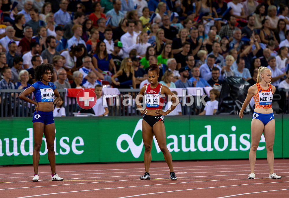 Salome KORA of Switzerland compete in the Women's 4x100m Relay - Zurich Trophy - during the Iaaf Diamond League meeting (Weltklasse Zuerich) at the Letzigrund Stadium in Zurich, Switzerland, Thursday, Aug. 29, 2019. (Photo by Patrick B. Kraemer / MAGICPBK)
