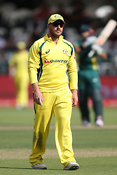 Aaron Finch of Austrailia during the 5th ODI match between South Africa and Australia held at Newlands Stadium in Cape Town, South Africa on the 12th October  2016<br /> <br /> Photo by: Shaun Roy/ RealTime Images