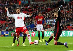 Manolo Gabbiadini of Southampton scores his sides first goal to make it 2-1 - Mandatory by-line: Matt McNulty/JMP - 26/02/2017 - FOOTBALL - Wembley Stadium - London, England - Manchester United v Southampton - EFL Cup Final