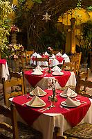 Dining in a courtyard, Restaurant Bugambilia, San Miguel de Allende, Mexico