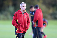 Robert Howley, the Wales coach looks on.  Wales rugby team training at the Vale Resort, Hensol, Vale of Glamorgan, in South Wales on Thursday 3rd November 2016, the team are preparing for their match against Australia this weekend. pic by Andrew Orchard, Andrew Orchard sports photography