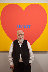 © licensed to London News Pictures. London, UK 20/06/2012. Sir Peter Blake launches his latest exhibition at The Mall Galleries, showing works of the last six decades of his career to celebrate his 80th birthday celebrations at this year's Vintage Festival. Photo credit: Tolga Akmen/LNP