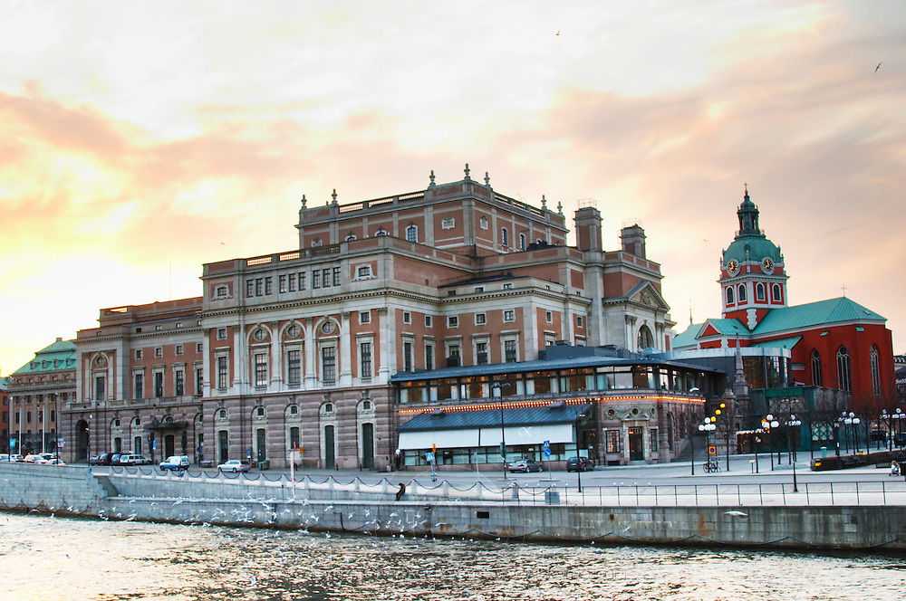 Kungliga Operan, The Royal Swedish Opera House. Operakällaren, one of the most famous Swedish gastronomic restaurants. Norrmalm. Stockholm. Sweden, Europe.