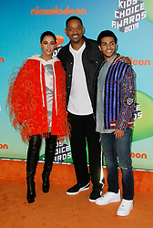 March 23, 2019 - Los Angeles, CA, USA - LOS ANGELES, CA - MARCH 23: Naomi Scott, Will Smith, Mena Massoud attends Nickelodeon's 2019 Kids' Choice Awards at Galen Center on March 23, 2019 in Los Angeles, California. Photo: CraSH for imageSPACE (Credit Image: © Imagespace via ZUMA Wire)