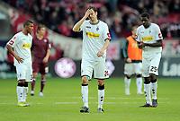 v.l.  Sebastian Schachten, Mo Idrissou (Gladbach)<br /> Bundesliga, 1. FC Kaiserslautern - Borussia Mönchengladbach<br /> <br /> Norway only