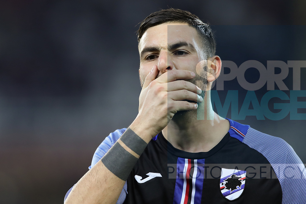 Nicola Murru of Sampdoria during the Serie A match at Stadio Grande Torino, Turin. Picture date: 8th February 2020. Picture credit should read: Jonathan Moscrop/Sportimage
