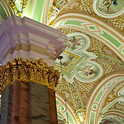 Ceiling Detail from Peter and Paul Cathedral in St. Petersburg, Russia