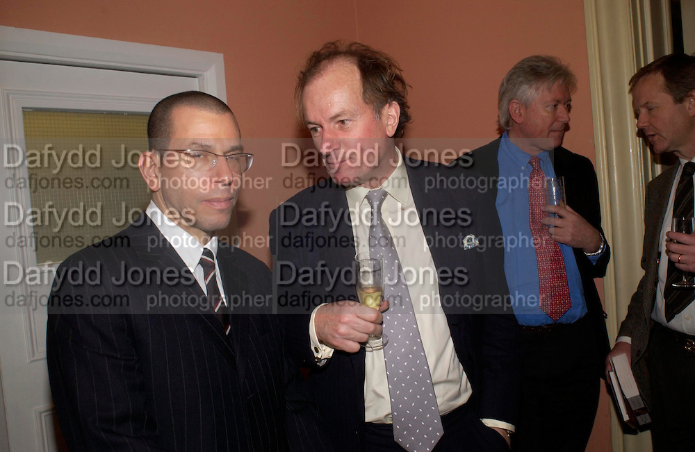 Jonathan Newhouse and David Campbell. Jonathan Newhouse. andrew Roberts and Leonie Frieda celebrate the publication of Andrew's 'Waterloo: Napoleon's Last Gamble' and the paperback of Leonie's 'Catherine de Medic'i. English-Speaking Union, Dartmouth House. London. 8 February 2005. ONE TIME USE ONLY - DO NOT ARCHIVE  © Copyright Photograph by Dafydd Jones 66 Stockwell Park Rd. London SW9 0DA Tel 020 7733 0108 www.dafjones.com