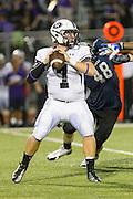 Cedar Ridge's Michael McCann against Hendrickson Friday at Hawk Stadium.  The Hawks led the Raiders at the half 27-6.  LOURDES M SHOAF/Round Rock Leader