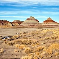 Desert photograph of the Painted Desert in Arizona.