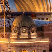 Close up of Mainstreet Theatre dome, downtown Kansas City, MO.