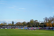 One minuet silence prior to kickoff during the The FA Cup 1st round match between Maidenhead United and Portsmouth at York Road, Maidenhead, United Kingdom on 10 November 2018.