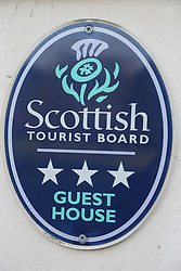 Scottish Tourist Board Guest House sign.