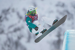 12.02.2014, Rosa Khutor Extreme Park, Krasnaya Polyana, RUS, Sochi, 2014, Snowboard Halfpipe Damen, im Bild Stephanie Magiros (AUS) // during Ladies Snowboard Halfpipe the Olympic Winter Games Sochi 2014 at the Rosa Khutor Extreme Park in Krasnaya Polyana, Russia on 2014/02/12. EXPA Pictures © 2014, PhotoCredit: EXPA/ Freshfocus/ Michael Zanghellini<br /> <br /> *****ATTENTION - for AUT, SLO, CRO, SRB, BIH, MAZ only*****