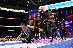 Years & Years during Capital's Summertime Ball with Vodafone at Wembley Stadium, London. This summer's hottest artists performed live for 80,000 Capital listeners at Wembley Stadium at the UK's biggest summer party. Performers included Camila Cabello, Shawn Mendes, Rita Ora, Charlie Puth, Jess Glyne, Craig David, Anne-Marie, Rudimental, Sean Paul, Clean Bandit, James Arthur, Sigala, Years & Years, Jax Jones, Raye, Jonas Blue, Mabel, Stefflon Don, Yungen and G-Eazy