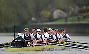 Putney. London.    l Oxford UBC. celebrates after winning thee 2011 University Boat Race on the Championship Course - Putney to Mortlake.  Saturday 26/03/2011  [Mandatory Credit; Peter Spurrier/Intersport-images]..OUBC. Bow Moritz HAFNER, 2 Ben MYERS, 3 Alec DENT, 4 Ben ELLISON, 5 Karl HUDSPITH, 6 Constantine LOULOUDIS, 7 George WHITTAKER, Stroke Simon HISLOP and Cox Sam WINTER-LEVY....