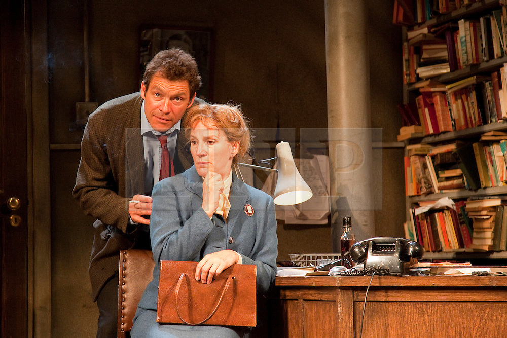 "© licensed to London News Pictures. London, UK  03/06/2011. Dominic West, star of the hit US drama ""The Wire"", plays rapier-tongued lecturer Ben Butley in a major new revivial of Simon Gray's award-winning novel until 27 August 2011. Penny Downie as Edna Shaft and Dominic West as Ben Butley. Please see special instructions for usage rates. Photo credit should read Bettina Strenske/LNP"