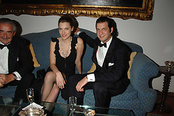 Centre & right, SARA BRAJOVIC and PRINCE CASIMIR ZU SAYN-WITTGENSTEIN-SAYN at a dinner hosted by the Italian Ambassador for the Buccellati family held at the Italian Embassy, Grosvenor Square, London on 28th March 2007.<br />