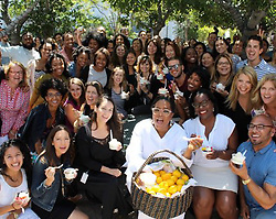 """Oprah Winfrey releases a photo on Twitter with the following caption: """"""""Celebrating #QueenSugar with my @OWNTV team."""""""". Photo Credit: Twitter *** No USA Distribution *** For Editorial Use Only *** Not to be Published in Books or Photo Books ***  Please note: Fees charged by the agency are for the agency's services only, and do not, nor are they intended to, convey to the user any ownership of Copyright or License in the material. The agency does not claim any ownership including but not limited to Copyright or License in the attached material. By publishing this material you expressly agree to indemnify and to hold the agency and its directors, shareholders and employees harmless from any loss, claims, damages, demands, expenses (including legal fees), or any causes of action or allegation against the agency arising out of or connected in any way with publication of the material."""