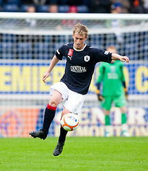 Falkirk's Craig Sibbald who was taken off later with a suspected broken ankle..Falkirk 1 v 0 Queen of the South, 15/10/2011..Pic © Michael Schofield.