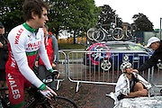 Mcc0055084 . Daily Telegraph<br /> <br /> Geraint Thomas passes by New Zealand's Jack Bauer after completing the Men's Road Race on Day 11 of the 2014 Commonwealth Games in Glasgow .<br /> <br /> Glasgow 3 August 2014