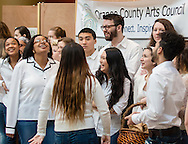 """Town of Wallkill, New York - The Orange County Arts Council held its All-County High School Musical Showcase and Arts Display at the Galleria at Crystal Run on Feb. 28, 2015. The theme of the event was: """"Arts Build Confidence""""."""