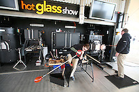 Celebrity Eclipse interior photos..The Hot Glass Show on the top deck..