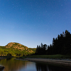 """The Big Dipper constellation over """"The Beehive"""" in Maine's Acadia National Park."""