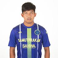 THAILAND - APRIL 09: Jakkit Wachpirom #17 of Samut Prakan City FC on April 09, 2019.<br /> .<br /> .<br /> .<br /> (Photo by: Naratip Golf Srisupab/SEALs Sports Images/MB Media Solutions)