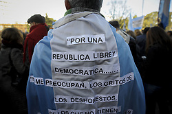June 20, 2017 - Buenos Aires, Argentina - Protester during a demonstration to require judges to advance in cases of corruption in Buenos Aires, Argentina on June 20, 2017. (Credit Image: © Gabriel Sotelo/NurPhoto via ZUMA Press)