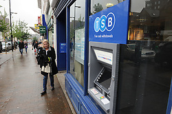 © Licensed to London News Pictures. 28/05/2014<br /> TSB Bromley High Street,Bromley,Kent.<br /> Lloyds has announced plans to float a 25% stake in its TSB business on the stock market, with small investors being offered free shares in the bank. <br /> Investors will get one free share for every 20 shares they buy (up to the value of £2,000) and hold for a period of one year after the flotation.<br /> The share sale is set to take place next month.<br /> <br /> Photo credit :Grant Falvey/LNP
