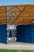 The new Serpentine Pavillion designed by Diebedo Francis Kere is opened outside the Serpentine gallery in Hyde Park.