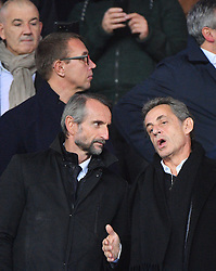 Jean-Claude Blanc and Nicolas Sarkozy in the stands watching Champions League Paris-St-Germain vs Liverpool football match at the Parc des Princes stadium in Paris, France, on November 28, 2018. Photo by Christian Liewig/ABACAPRESS.COM