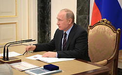 May 30, 2017 - Moscow, Russia - May 30, 2017. - Russia, Moscow. - Russian President Vladimir Putin at a meeting with permanent members of the Security Council. (Credit Image: © Russian Look via ZUMA Wire)