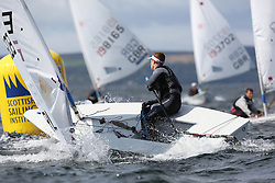 Day 4 NeilPryde Laser National Championships 2014 held at Largs Sailing Club, Scotland from the 10th-17th August.<br /> <br /> 201603, Conor O'FARRELL<br /> <br /> Image Credit Marc Turner