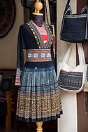 Clothing boutique display in Luang Prabang.