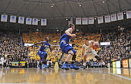 WICHITA, KS - JANUARY 18:  Guard Fred VanVleet #23 of the Wichita State Shockers drives with the ball against the Indiana State Sycamores during the first half on January 18, 2014 at Charles Koch Arena in Wichita, Kansas.  (Photo by Peter G. Aiken/Getty Images) *** Local Caption *** Fred VanVleet
