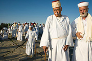 Israel, West Bank, samaritan ceremony on mount gerizim during Shavuot festival