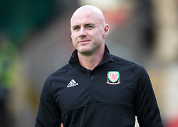 NEWPORT, WALES - Tuesday, October 16, 2018: Wales' manager Rob Page ahead of the UEFA Under-21 Championship Italy 2019 Qualifying Group B match between Wales and Switzerland at Rodney Parade. (Pic by Laura Malkin/Propaganda)