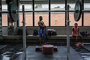 2016/06/07 – Bogotá, Colombia: Fábio Torres, 39, before a training session of powerlifting in High Performance Center, Bogotá, 7th June, 2016.  <br /> -<br /> Fábio is a retired Army Corporal. In 2008, he stepped on a landmine while on patrol in the Colombian jungle, losing his left leg. The accident became a big change in Fabio's life; he felt he had to learn everything again. Fábio found strength to continue his life through sport, and specially powerlifting, which he at first just practiced as hobby. Since 2009 he dedicates all his time to the sport, in the beginning just as a rehabilitation process and now as fulltime sportsman. He has had a successful year, in 2016; Fábio became World Champion of Powerlifting in Brazil after lifting 211kg. In the Rio 2016 Paralympics, he wants to bring a medal home. Regarding the violence in his country, he hopes that the peace process goes further. There are already too many victims, and he doesn't want people to go through what he has been through. He believes that the country need less violence and more sports, so they can get peace in Colombia. (Eduardo Leal)