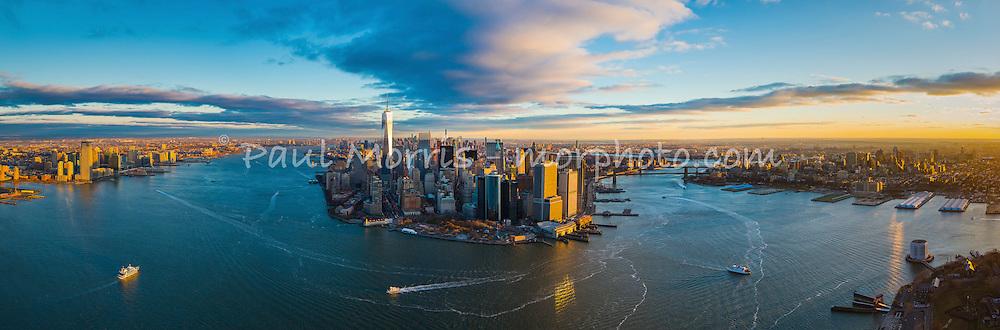 Aerial photograph of New York City. This version is watermarked, contact us to license and clean version.